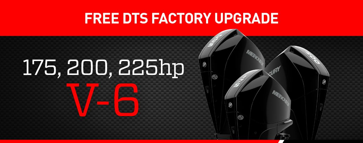 FREE DTS FACTORY UPGRADE ON THE MERCURY V-6 RANGE
